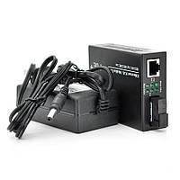 Медіаконвертер POE, FT-1G1EPS-20, SC 20km, Fast Ethernet 10/100/1000 Мбит/с, + блок живлення 48В, 2,5А (0 +70 ° C),  + перехідник, Q60