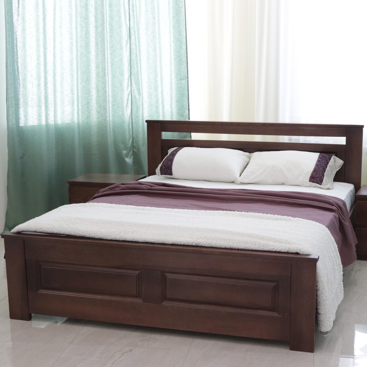 Ліжко дерев'яне полуторне Клеопатра (масив бука)