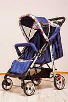 Коляска детская прогулочная коляска-книжка Baby car синяя