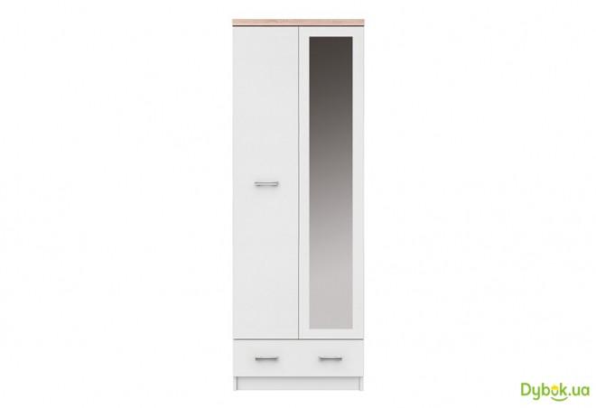 Шкаф SZF 2D1S_60 (с зеркалом) Топ-микс Белый / Дуб сонома ВМВ Холдинг