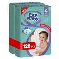 Підгузки дитячі Evy Baby Еві Бебі Maxi максі Jumbo 4 ( 7-18 кг), 128 шт