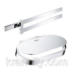 Набір аксесуарів Grohe тримач для рушників Selection Cube 40768000 + тримач для туалетного паперу Selection
