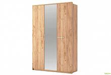 Шкаф 3Д с зеркалом Дуб крафт Ники МироМарк