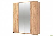 Шкаф 4Д с зеркалом Дуб крафт Ники МироМарк