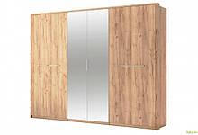 Шкаф 6Д с зеркалами Дуб крафт Ники МироМарк