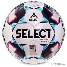 Футбольный мяч №4 Select Brillant Replica new REP-4-WB (PVC 1000, белый-голубой-черный)