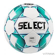 Футбольный мяч №4 Select CAMPO-PRO-4WG (FPUS 1300, белый-зеленый)