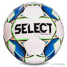 Футбольный мяч №4 Select Talento WB (FPUS 1400, белый-синий)