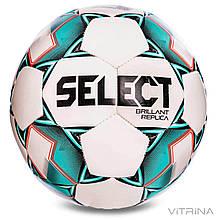 Футбольний м'яч №5 Select Brillant Replica REP-WG (PVC 1000, білий-зелений)
