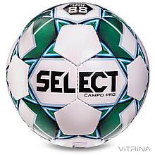 Футбольний м'яч №5 Select CAMPO-PRO-W IMS (FPUS 1300, білий-зелений)