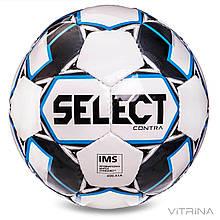 Футбольный мяч профессиональный №5 Select Contra IMS WBK (FPUS 1100, белый-черный)