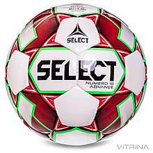 Футбольный мяч профессиональный №5 Select Numero 10 IMS ADV (FPUS 1500, белый-синий)