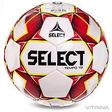 Футбольний м'яч професійний №5 Select Tempo TB IMS WR (FPUS-T 1600, білий-червоний)