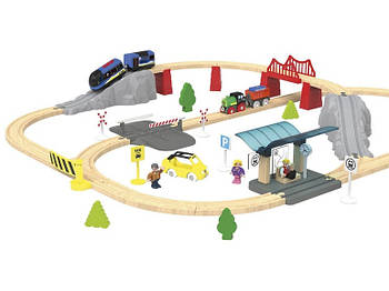 Железная дорога PLAYTIVE 2021 с дерева Германия ( Ikea, Brio, Hape, Viga Toys )