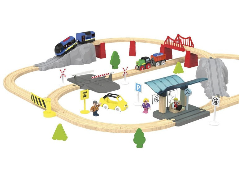 Железная дорога PLAYTIVE 2021 с дерева Германия ( Ikea, Brio, Hape, Viga Toys ), фото 1