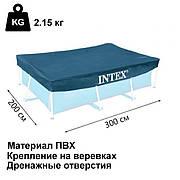 Тент для каркасного бассейна Intex 28038 300х200 см накидка для бассейна intex