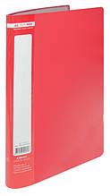 Папка з 10 файлами А4 JOBMAX, червоний