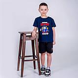 Шорты для мальчика, трикотажные, Амонг Ас, AmongUs, темно-синие, фото 2