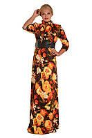 Длинное вечернее платье велюр трикотаж размеры 50 52 54 56