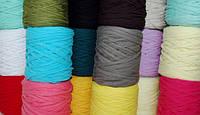 Большое поступление трикотажной пряжи в бобинах для вязания ковров и сумок