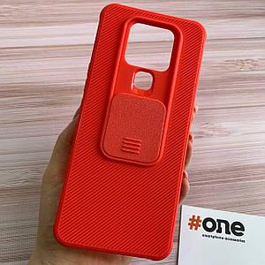 Чохол для Tecno Camon 16 SE щільний зі шторкою для камери чохол на телефон техно камон 16 се червоний MSH