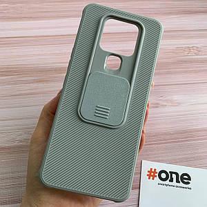 Чохол для Tecno Camon 16 SE щільний зі шторкою для камери чохол на телефон техно камон 16 се сірий MSH