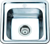 Врезная кухонная мойка из нержавеющей стали PLATINUM 3838 полировка 0.6 мм.