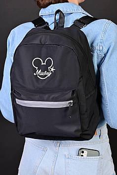 Модний чорний рюкзак з плащової тканини код 7-8856