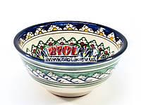 Миска узбекская глубокая 16х7,5см 600мл, ручная роспись (вариант 2)