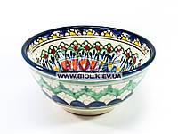 Миска узбекская глубокая 16х7,5см 600мл, ручная роспись (вариант 5)