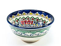Миска узбекская глубокая 16х7,5см 600мл, ручная роспись (вариант 8)