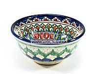 Миска узбекская глубокая 16х7,5см 600мл, ручная роспись (вариант 10)