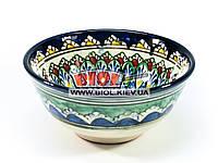 Миска узбекская глубокая 16х7,5см 600мл, ручная роспись (вариант 11)