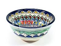 Миска узбекская глубокая 16х7,5см 600мл, ручная роспись (вариант 12)
