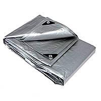Тент тарпаулин универсальный WIMAR PLANDEKA MOCNA 8х10 метра, серый цвет, плотность 110 г/м2, армированный