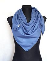 Легка однокольорова хустка Eripek Мерілін 95*95 см джинс синій