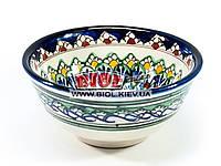 Миска узбекская глубокая 16х7,5см 600мл, ручная роспись (вариант 14)
