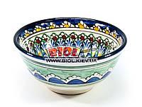 Миска узбекская глубокая 16х7,5см 600мл, ручная роспись (вариант 15)