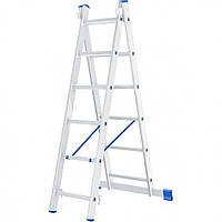 Лестница 2 х 6 ступеней алюминиевая двухсекционная Сибртех 97906