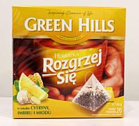 Чай ройбуш Green Hills с медом, имбирем и лимоном, 20 пакетиков