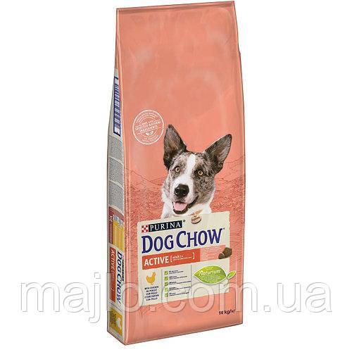 DOG CHOW Active. Для активних і робочих собак зі смаком курицы14кг