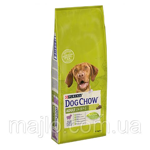 Сухий корм для дорослих собак Purina Dog Chow Adult зі смаком ягняти 14 кг (7613034487636)