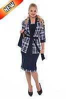 Костюм женский нарядный платье + пиджак размеры 50 52 54 56