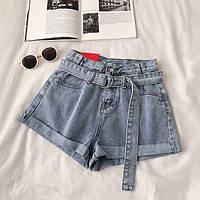 Женские джинсовые шорты в голубом цвете