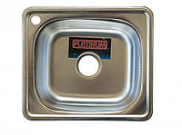 Врезная кухонная мойка из нержавеющей стали PLATINUM 4842 сатин 0.6 мм.
