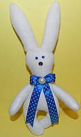 Заяц белый игрушка , необычный подарок ребенку на день рождение