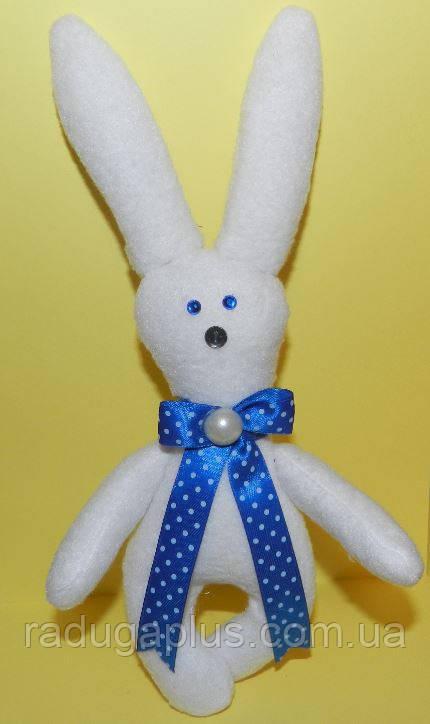 Заяц белый игрушка , необычный подарок ребенку на день рождение - РАДУГА в Киеве