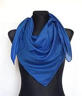 Легка однокольорова хустка Eripek Мерілін 95*95 см синій