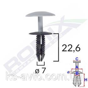 Кліпса кріплення обшивки універсальне (відп.7мм, капелюшок 24мм)