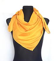 Легка однокольорова хустка Eripek Мерілін 95*95 см жовтий